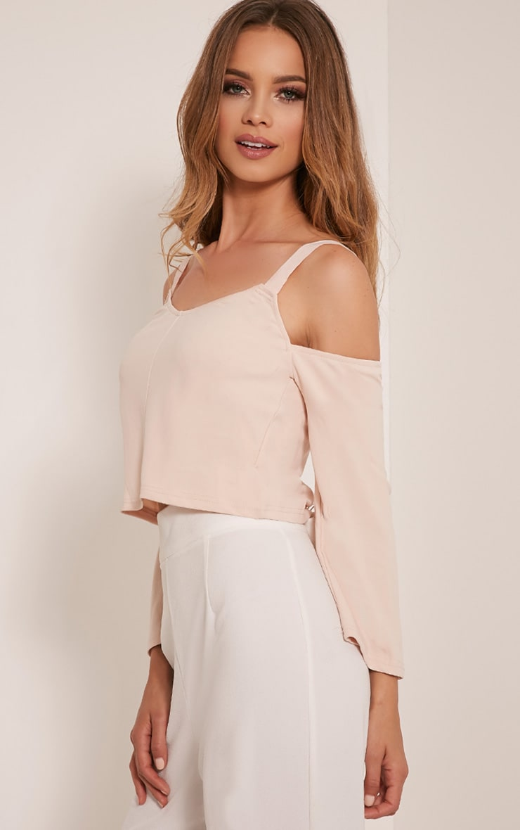 Audra Nude Drop Arm Crop Top 4