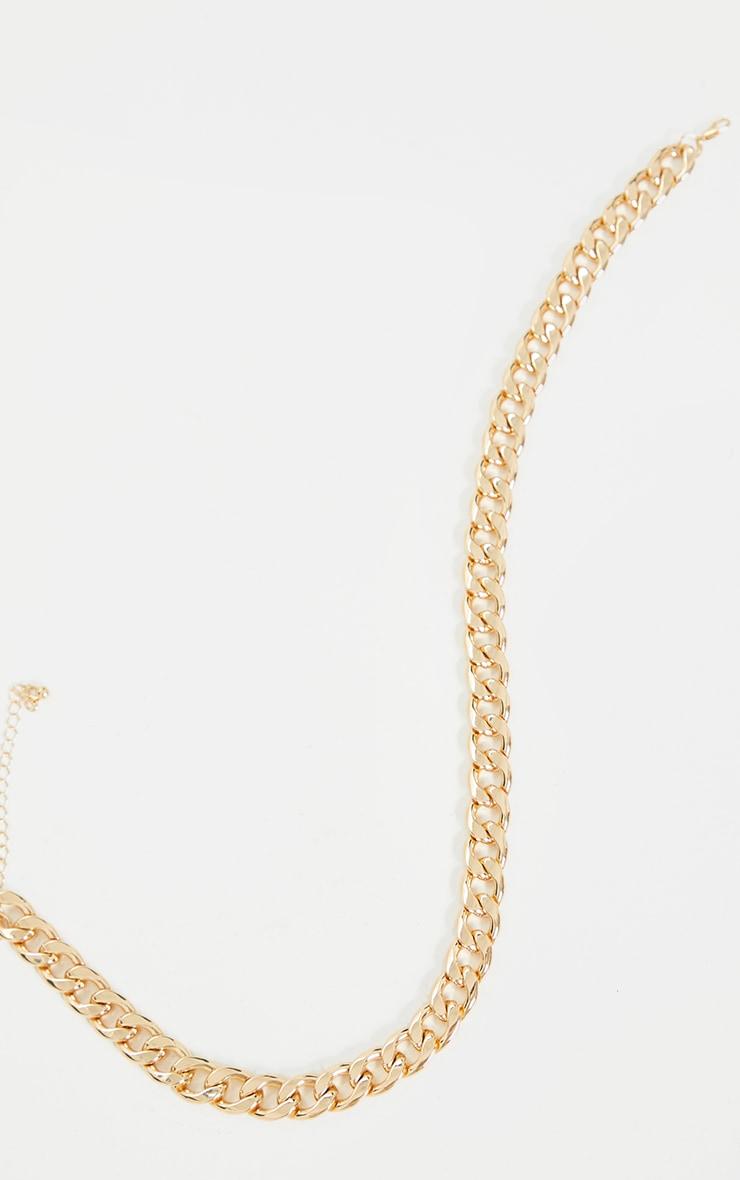 Collier doré à chaîne très chunky oversize 3
