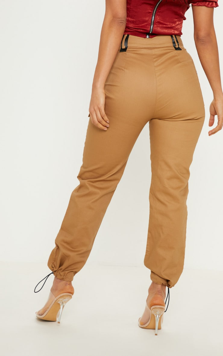 Tan Pocket Detail Cargo Pants 4