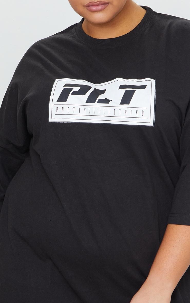 PRETTYLITTLETHING Plus Black Tshirt Dress 4