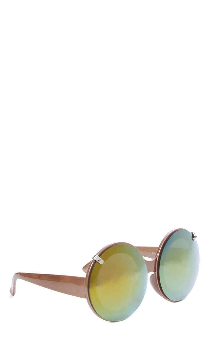 Tora Gold Mirrored Flip Up Sunglasses 4