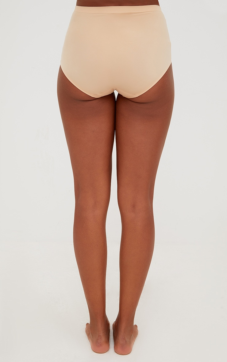 Nude NO VPL Invisible High Waisted Knickers 4