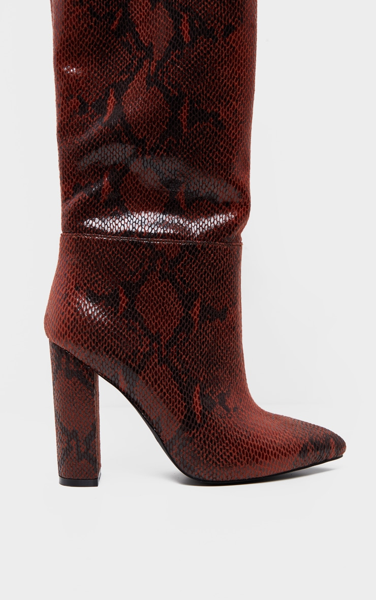 Snake Western Thigh High Boot 3