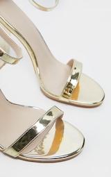 May Gold Block Heeled Sandal 5