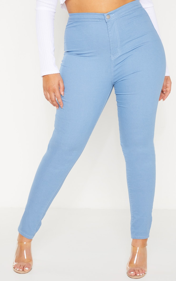 Plus Mid Wash Stretch Jegging 2
