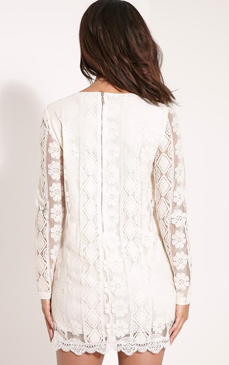 Polli Cream Lace Bib Swing Dress 2