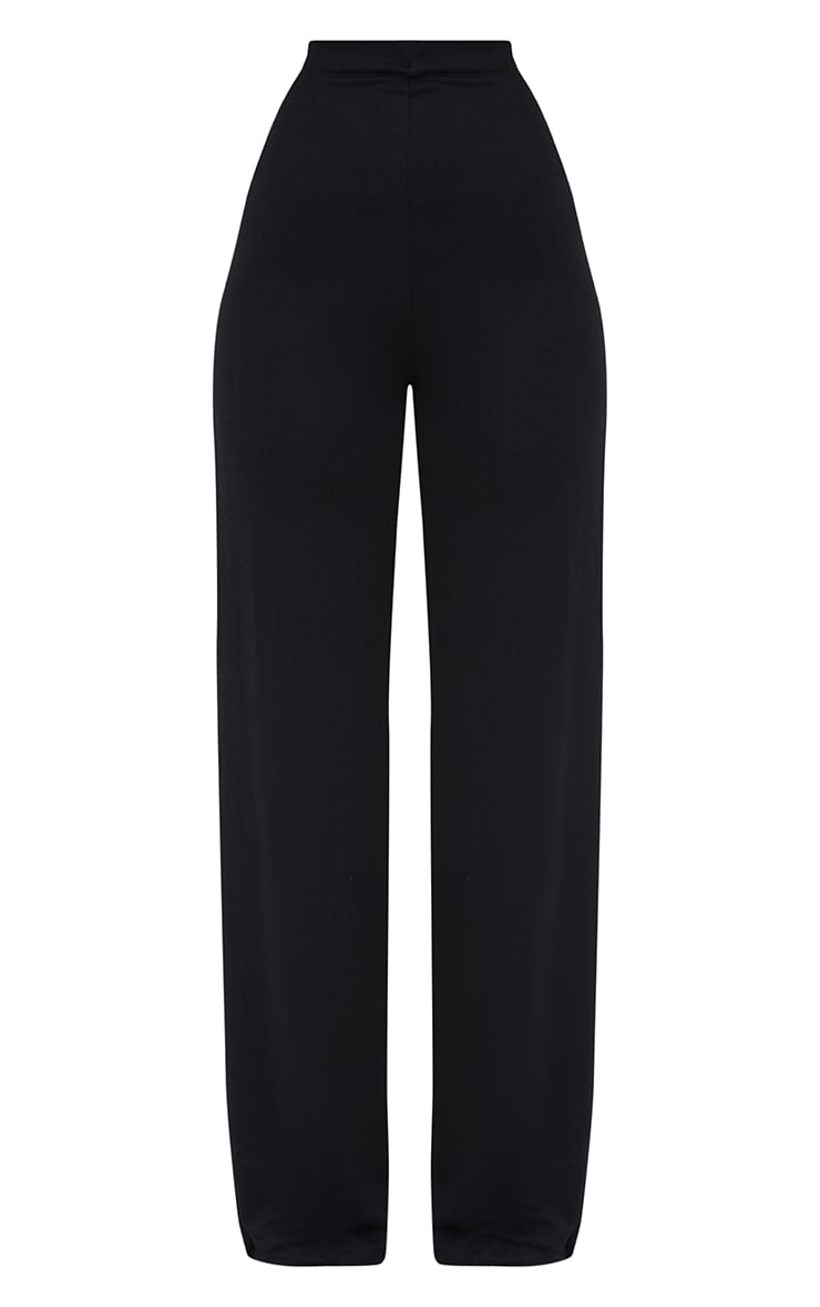 Black High Waisted Wide Leg Trousers  4