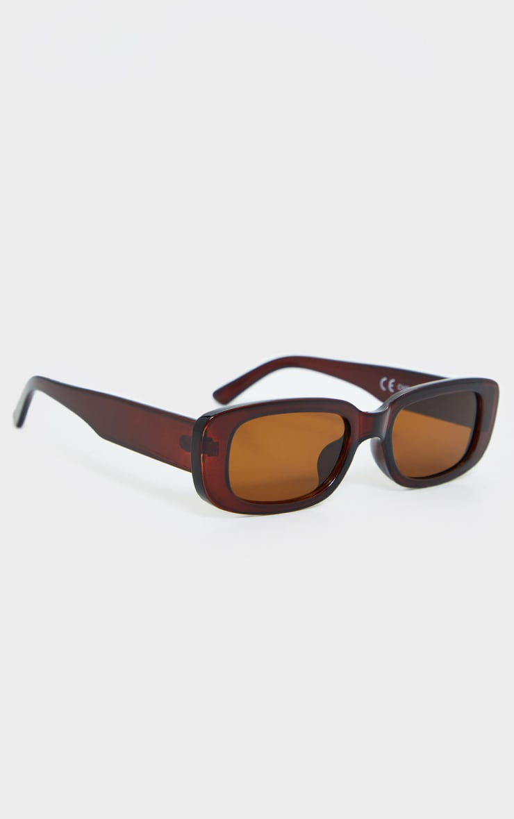 Brown Chunky Square Frame Sunglasses 3