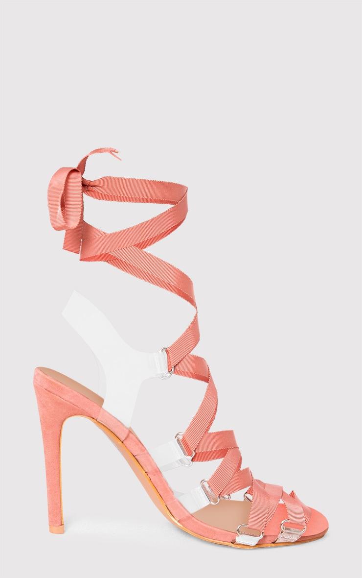 Blush Lace Up Heels 3