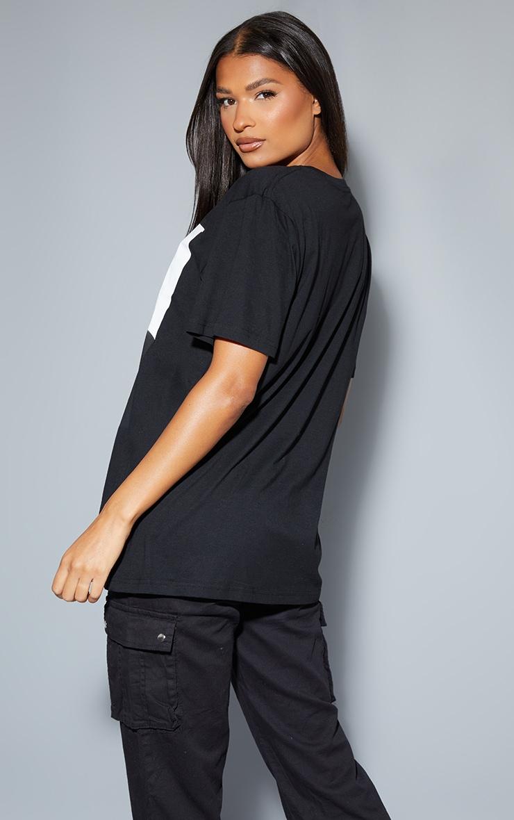 Tee-shirt noir oversized à motif Tupac avec chaîne 2