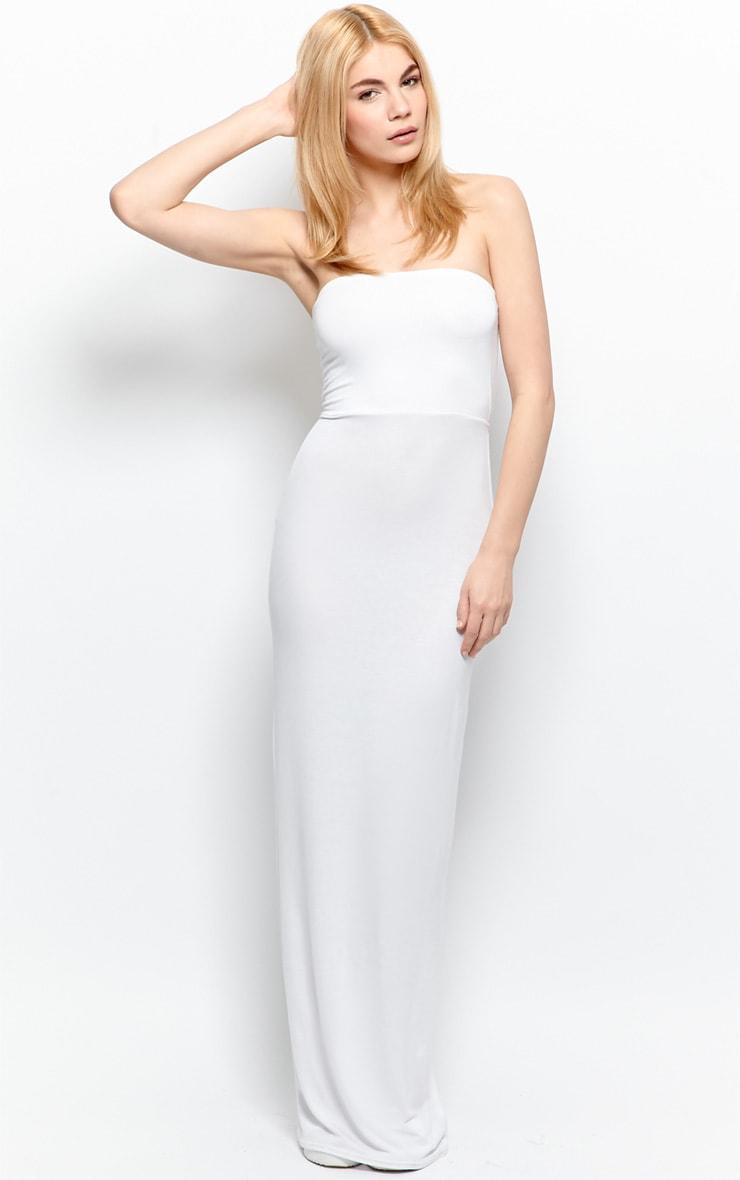 Albany White Bandeau Maxi Dress 5