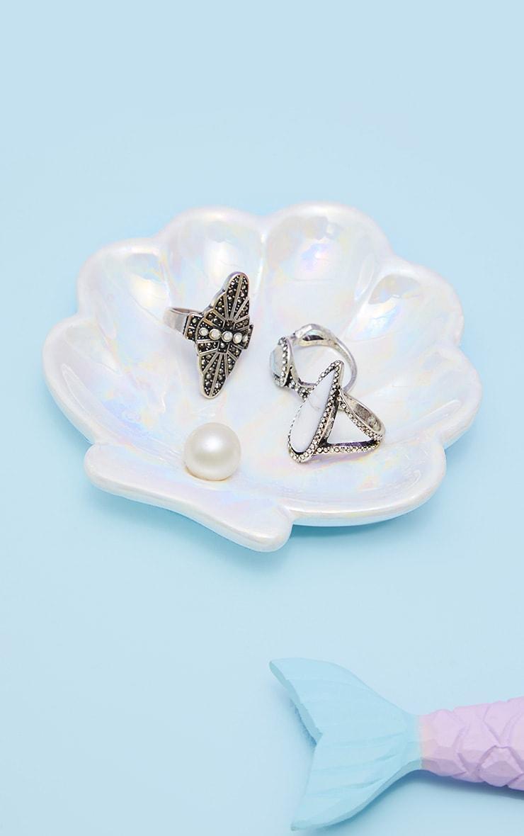 Sass And Belle Mermaid Treasures Iridescent Shell Trinket Dish