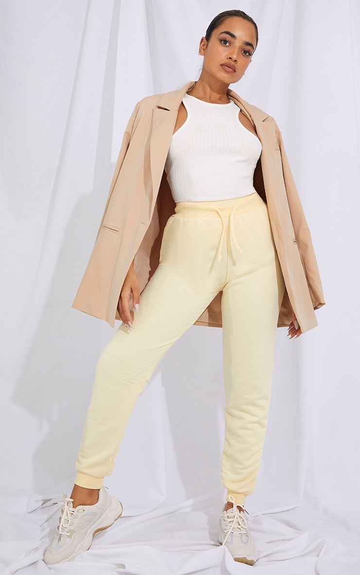 Petite Cream Ultimate Sweat Jogger 1