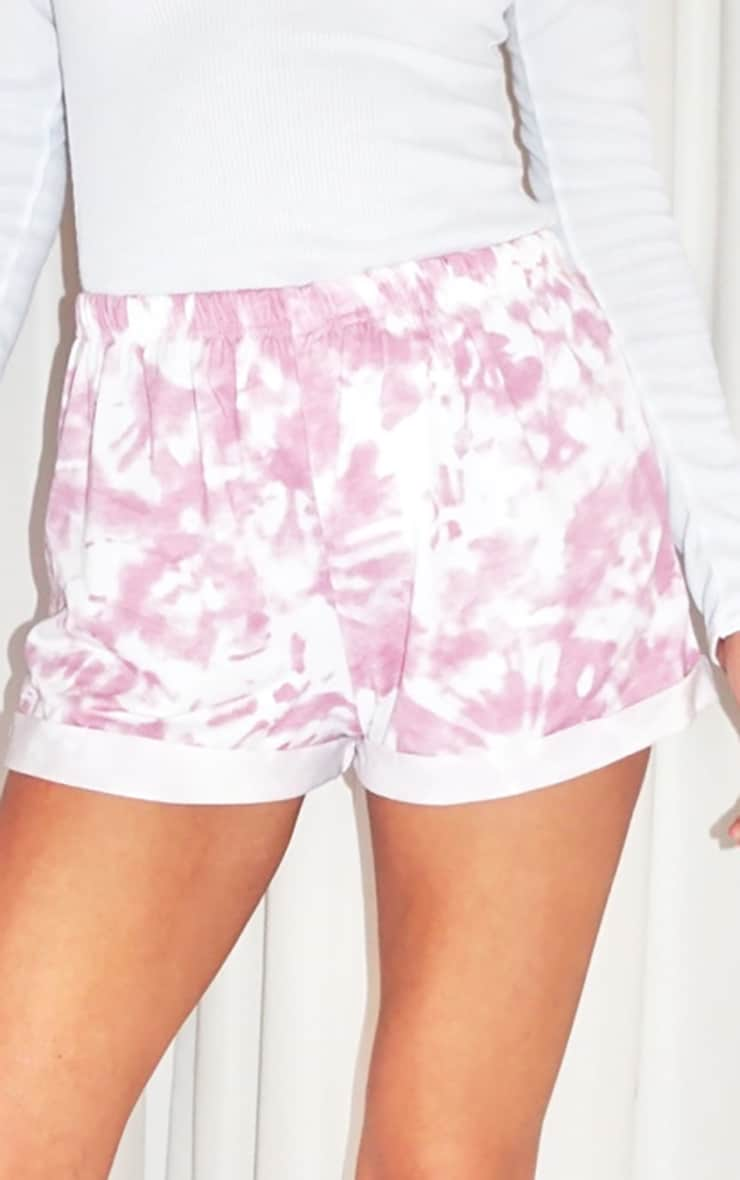 Tall Baby Pink Tie Dye Runner Shorts 5