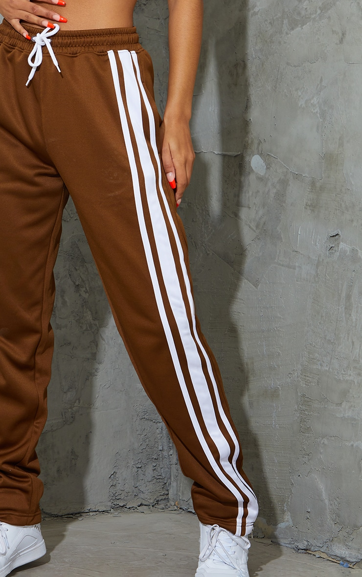 Chocolate Tricot Wide Leg Joggers 4