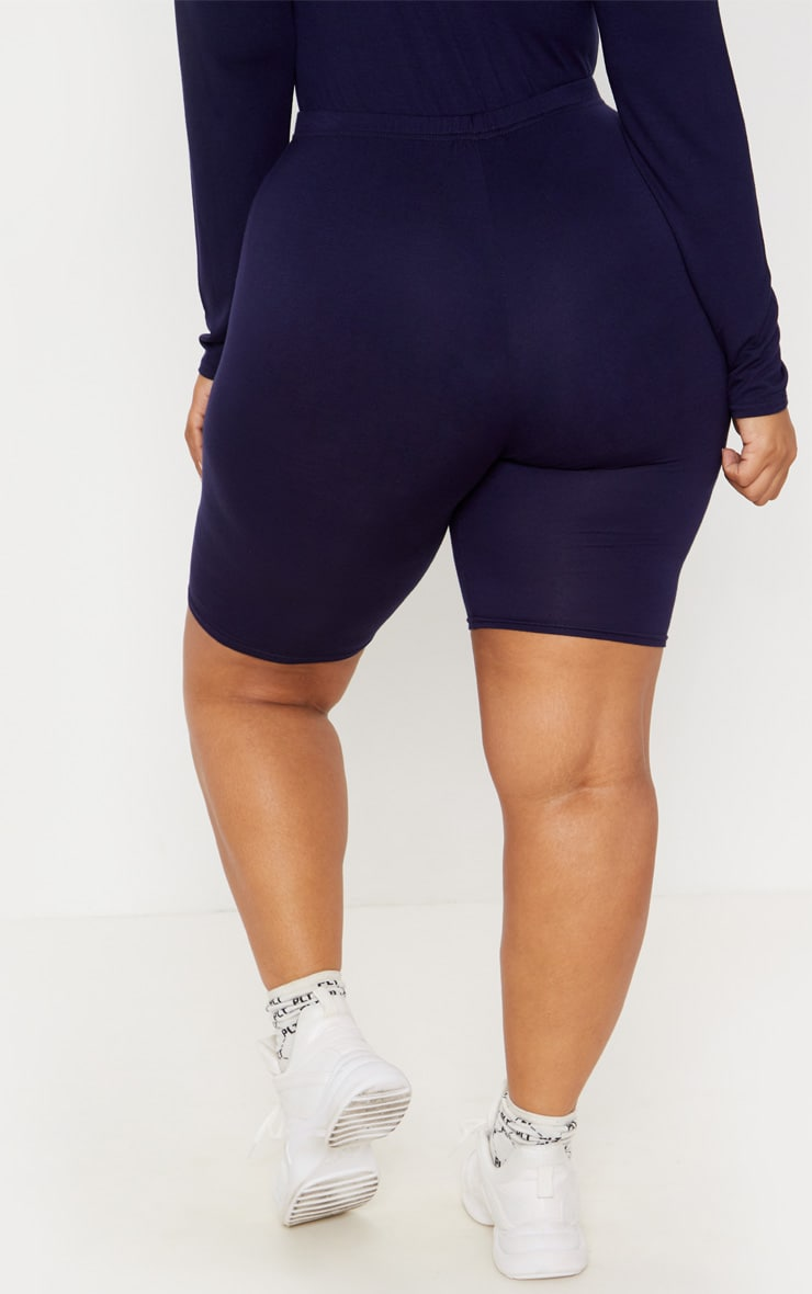 Plus Navy Basic Cycle Shorts 4