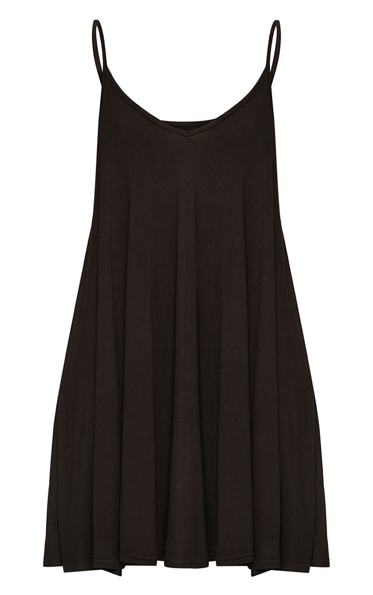 Black Strappy Swing Dress 3