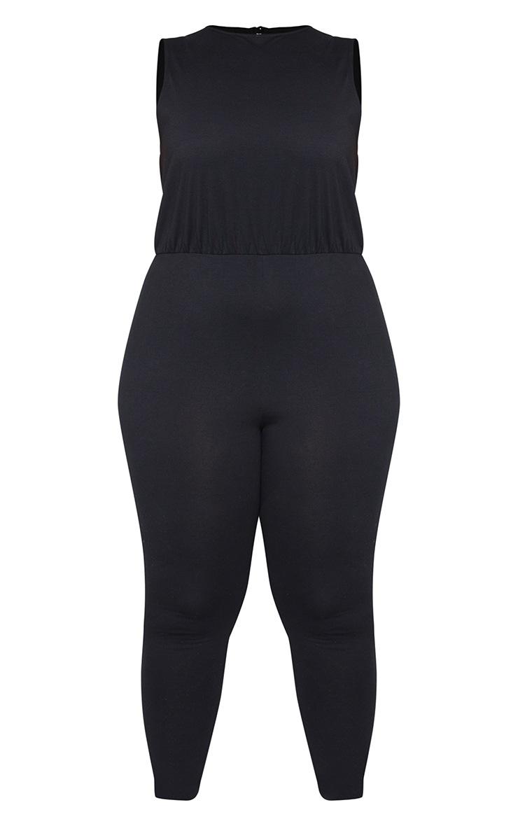 Plus Black High Neck Jumpsuit 5