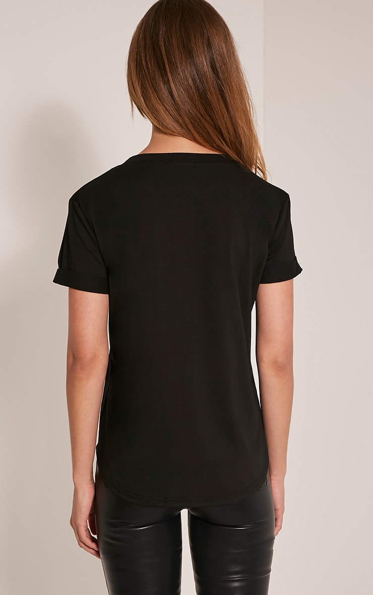 Live To Sparkle Slogan Black T Shirt 2