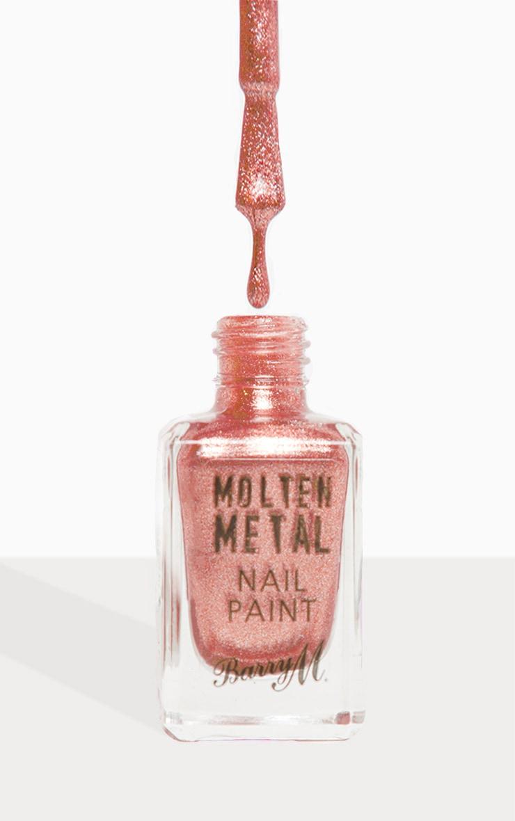 Barry M Molten Metal Holographic Sunburst Nail Paint 1
