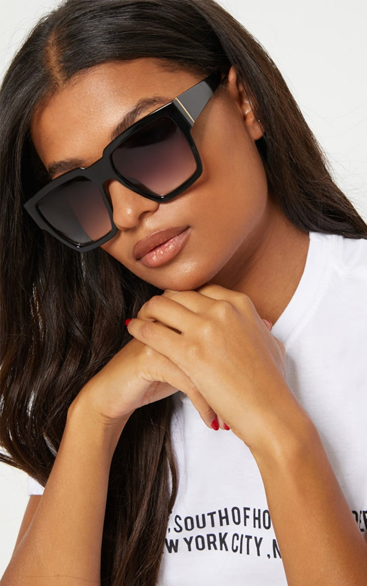 Black Oversized Square Sunglasses 1