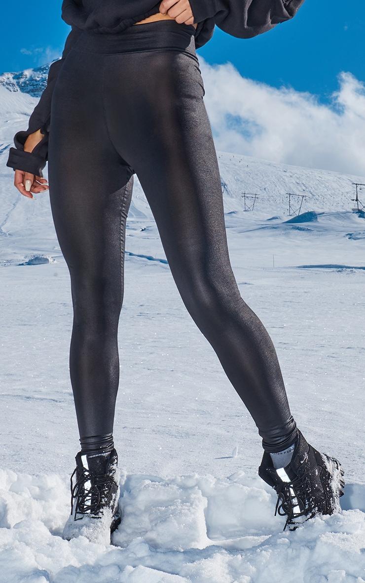 Tiana Black Wet Look Leggings 2