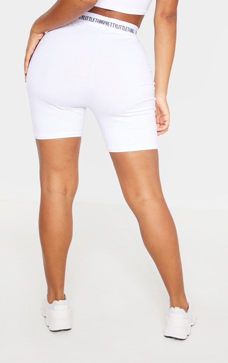 PRETTYLITTLETHING Shape Cream Cotton Cycling Shorts 4