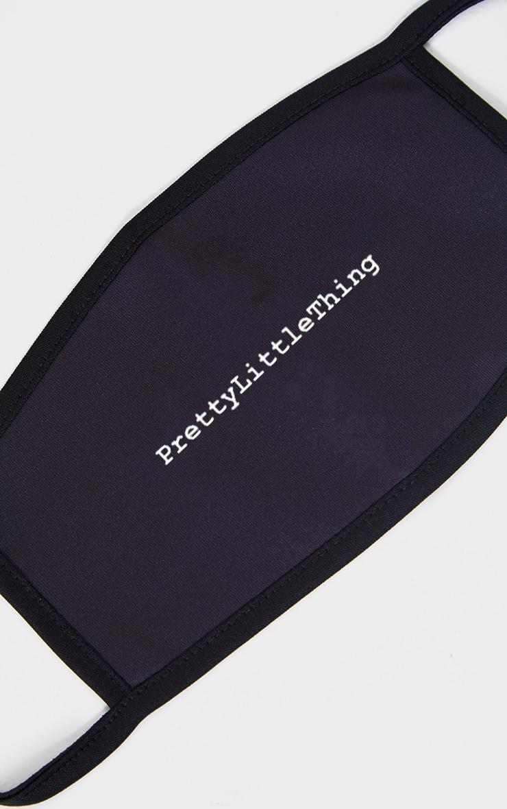 PRETTYLITTLETHING Black Slogan Fashion Mask 2