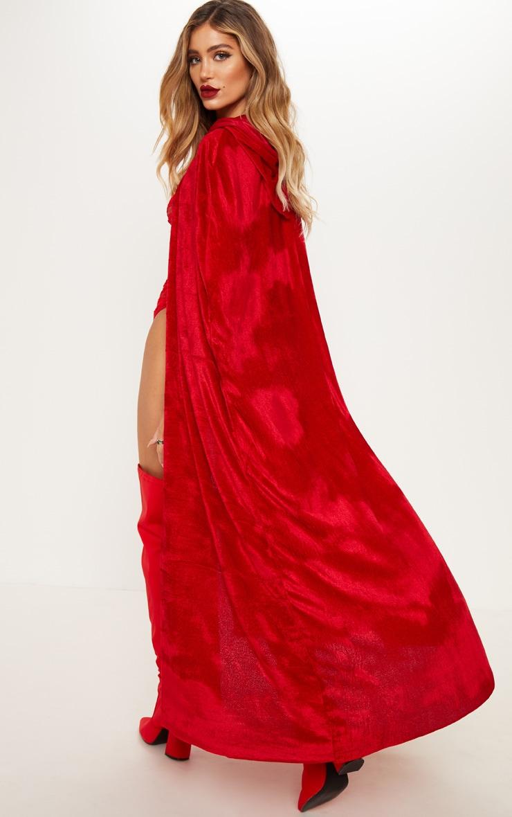 Red Velvet Long Cape 2