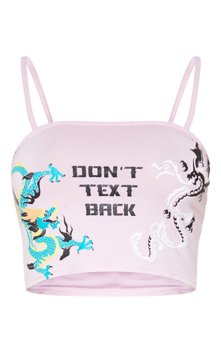 Baby Pink Dragon Printed Bandeau Crop Top 3