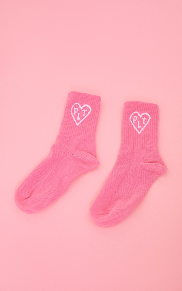 PRETTYLITTLETHING Pink Heart Ankle Socks 3
