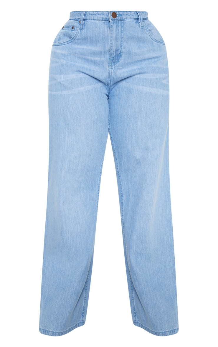 Plus Light Wash Extreme Wide Leg Jean 3