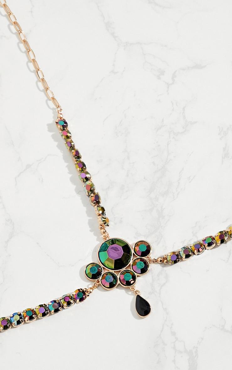 Purple Iridescent Gem Head Chain 4
