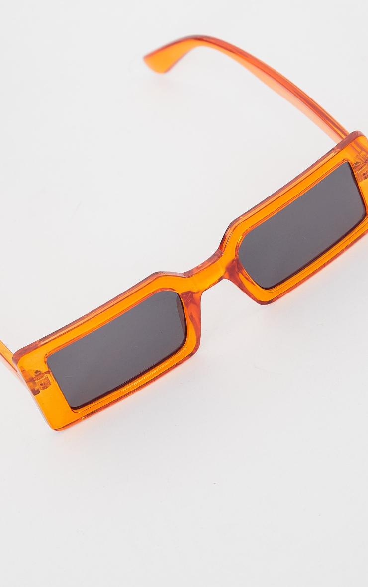 Orange Chunky Square Frame Sunglasses 2