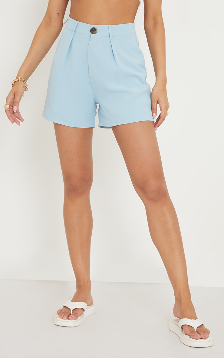 Blue Tailored City Shorts 2