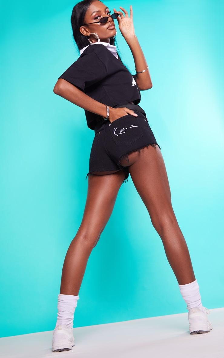 KARL KANI Black Denim Shorts 7