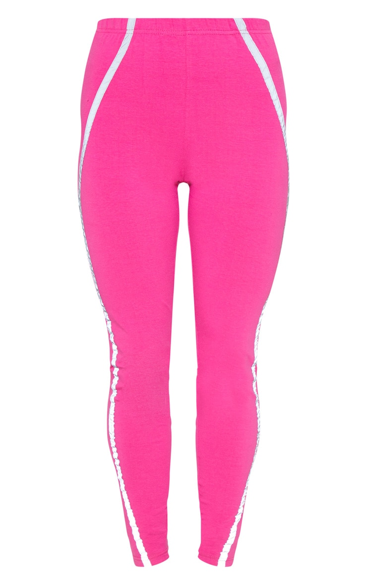Hot Pink Reflective Tape Legging 3