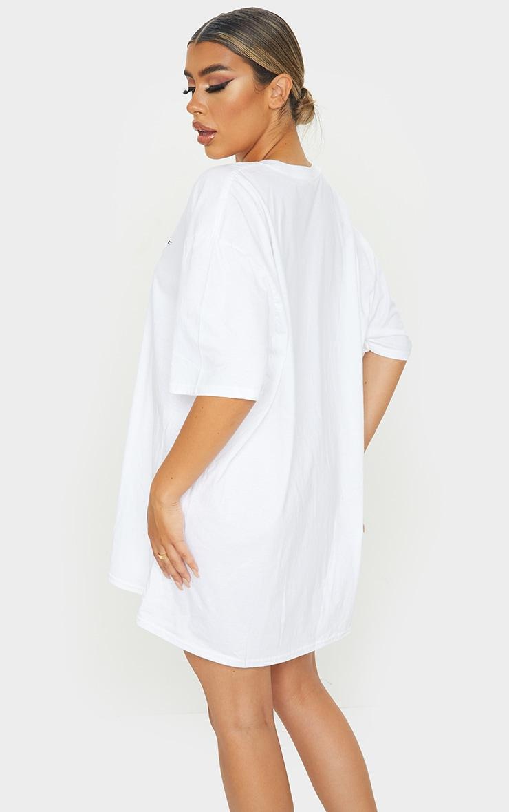 PRETTYLITTLETHING White Tour T Shirt Dress 2