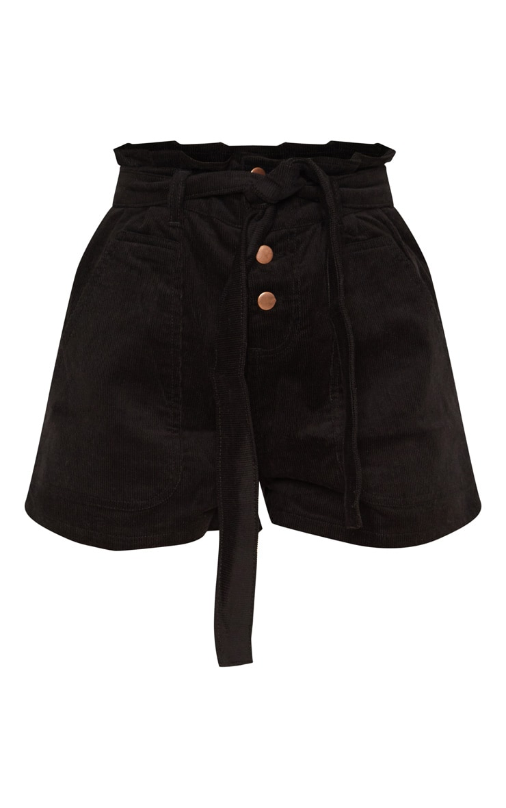 Black Cord Paperbag Shorts  3