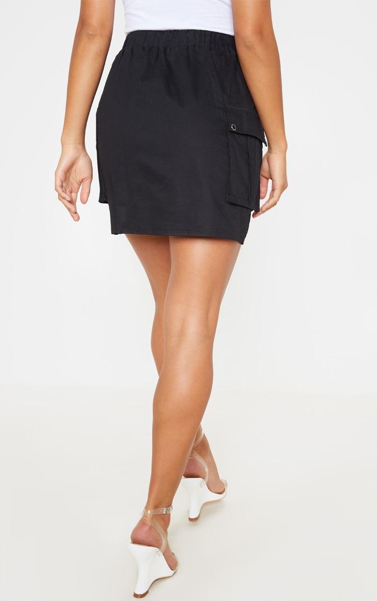 Petite Black Cargo Pocket Skirt 3