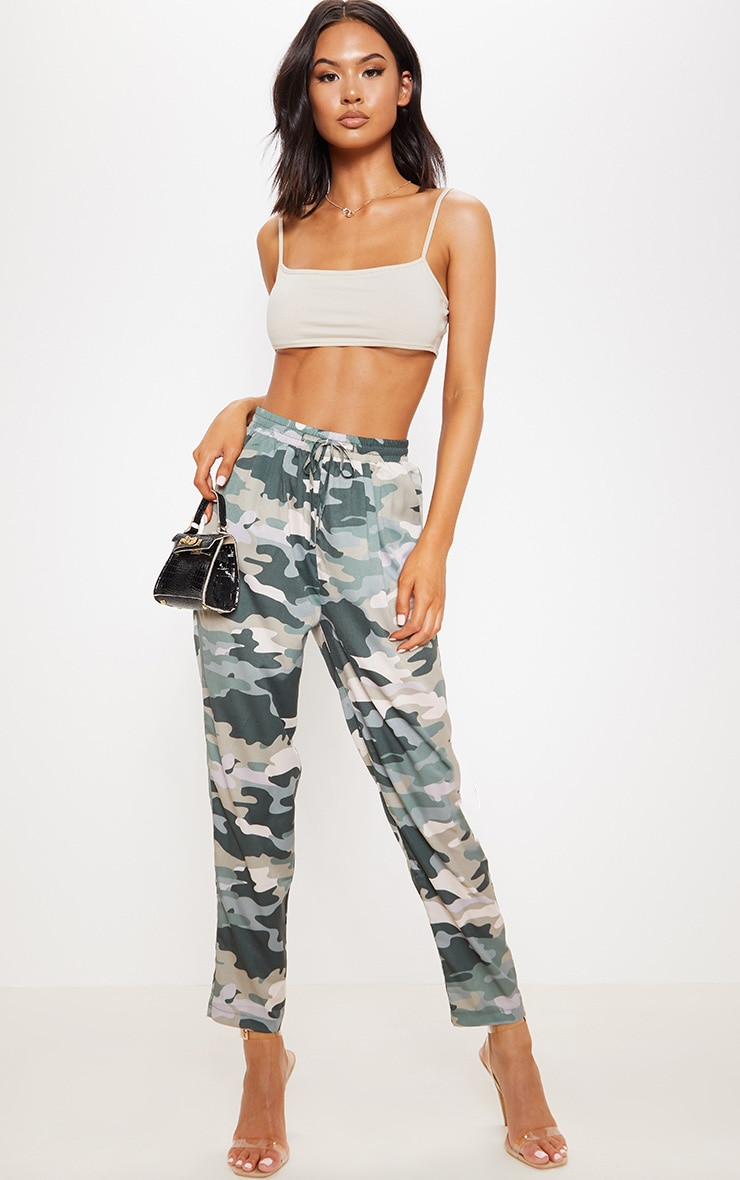 True Camo Print Cigarette Pants 1