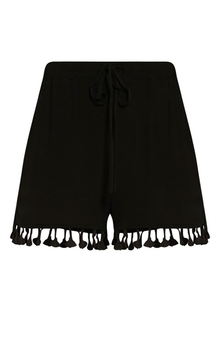 Jamelia Black Tassel Hotpants 3
