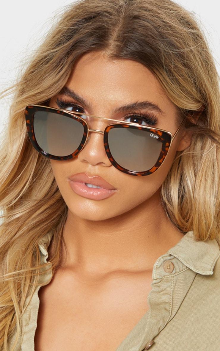 17e81096b2a5a QUAY AUSTRALIA Tortoiseshell French Kiss Sunglasses image 1