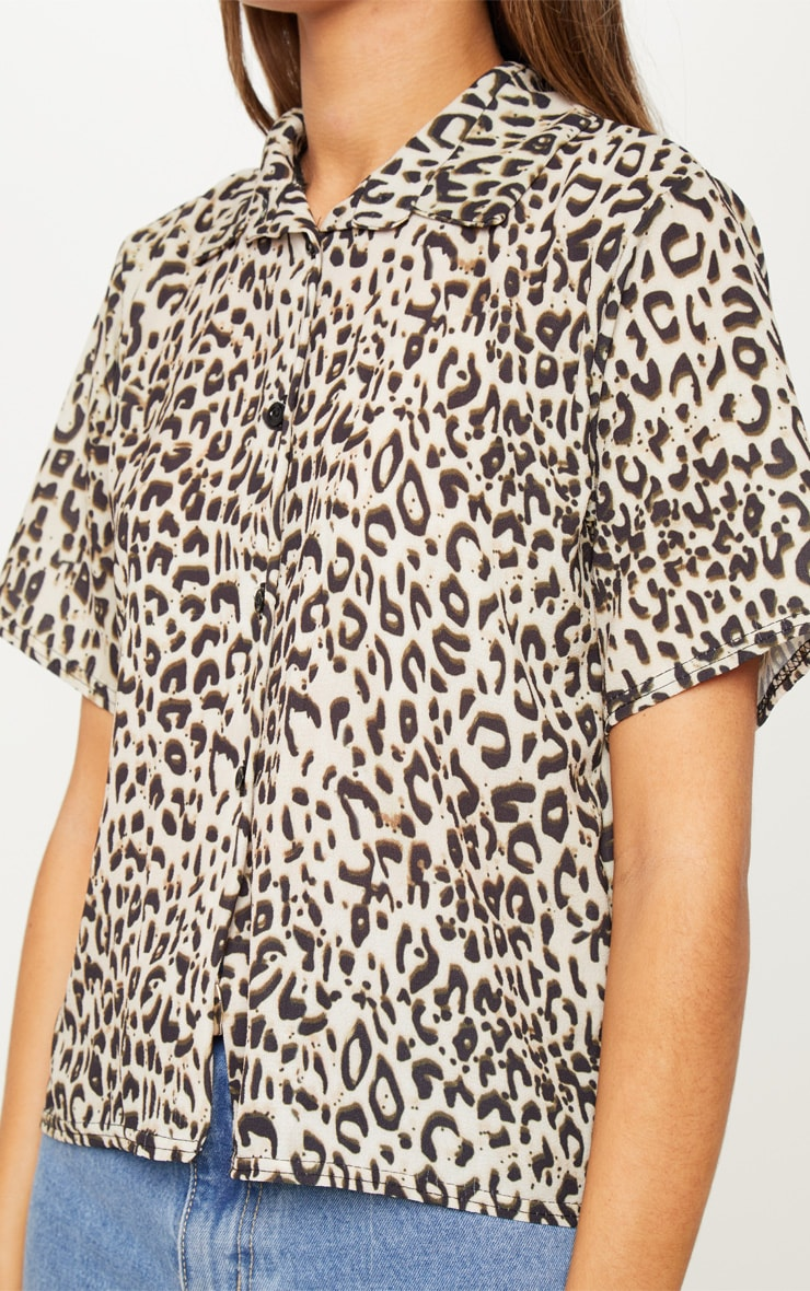 Black Leopard Print Shirt 5