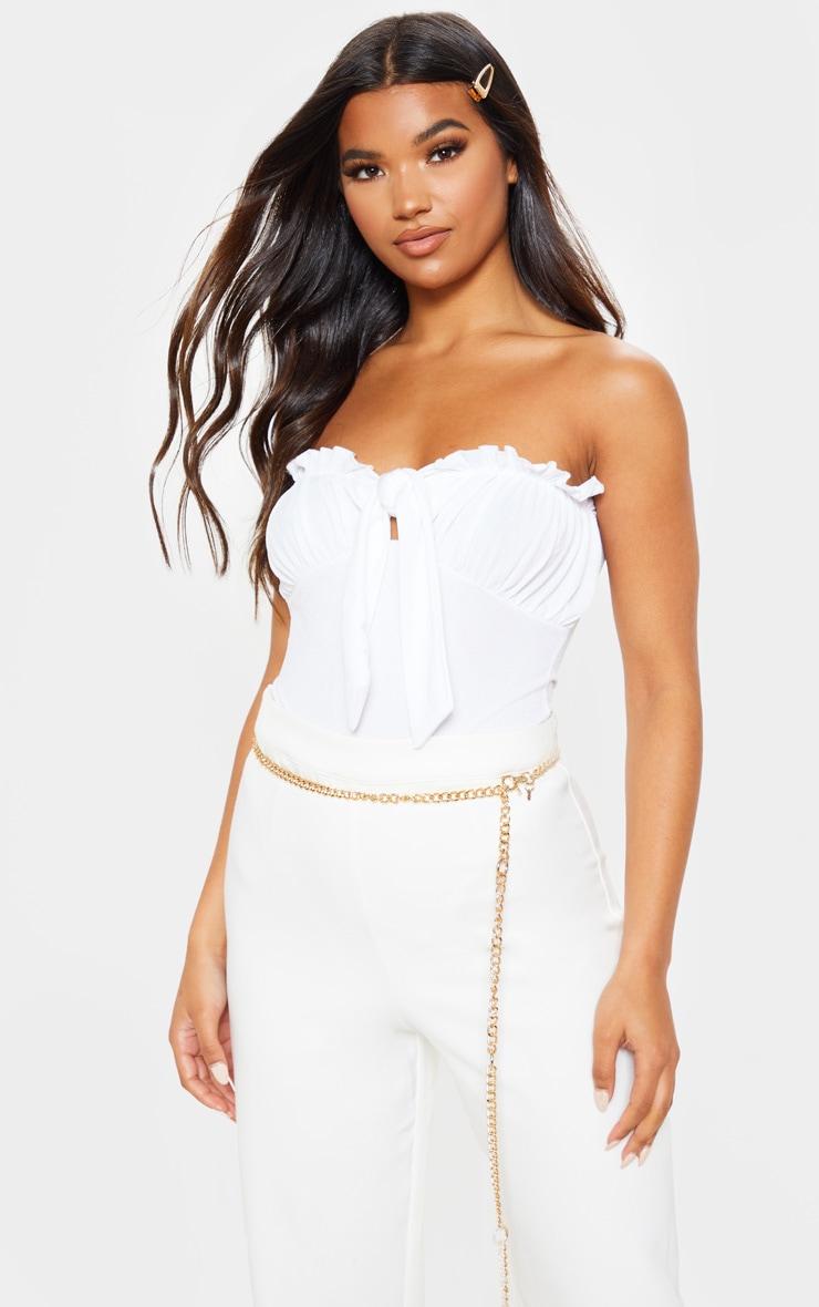 Body bandeau milkmaid blanc  1