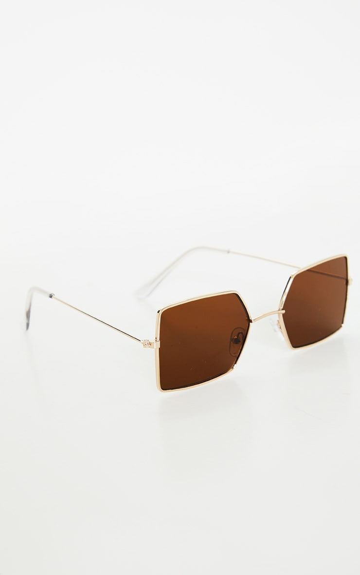 Black Retro Square Sunglasses 3