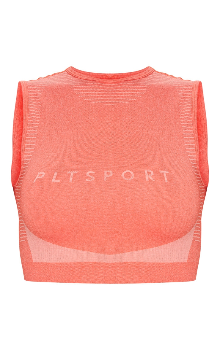 PRETTYLITTLETHING Coral Seamless Cropped Vest 5