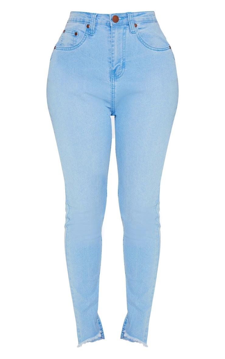 Shape Light Wash Distressed High Waisted Skinny Jeans 3