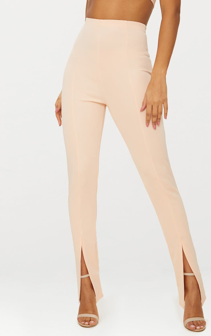 Nude High Waisted Split Hem Detail Trouser 2