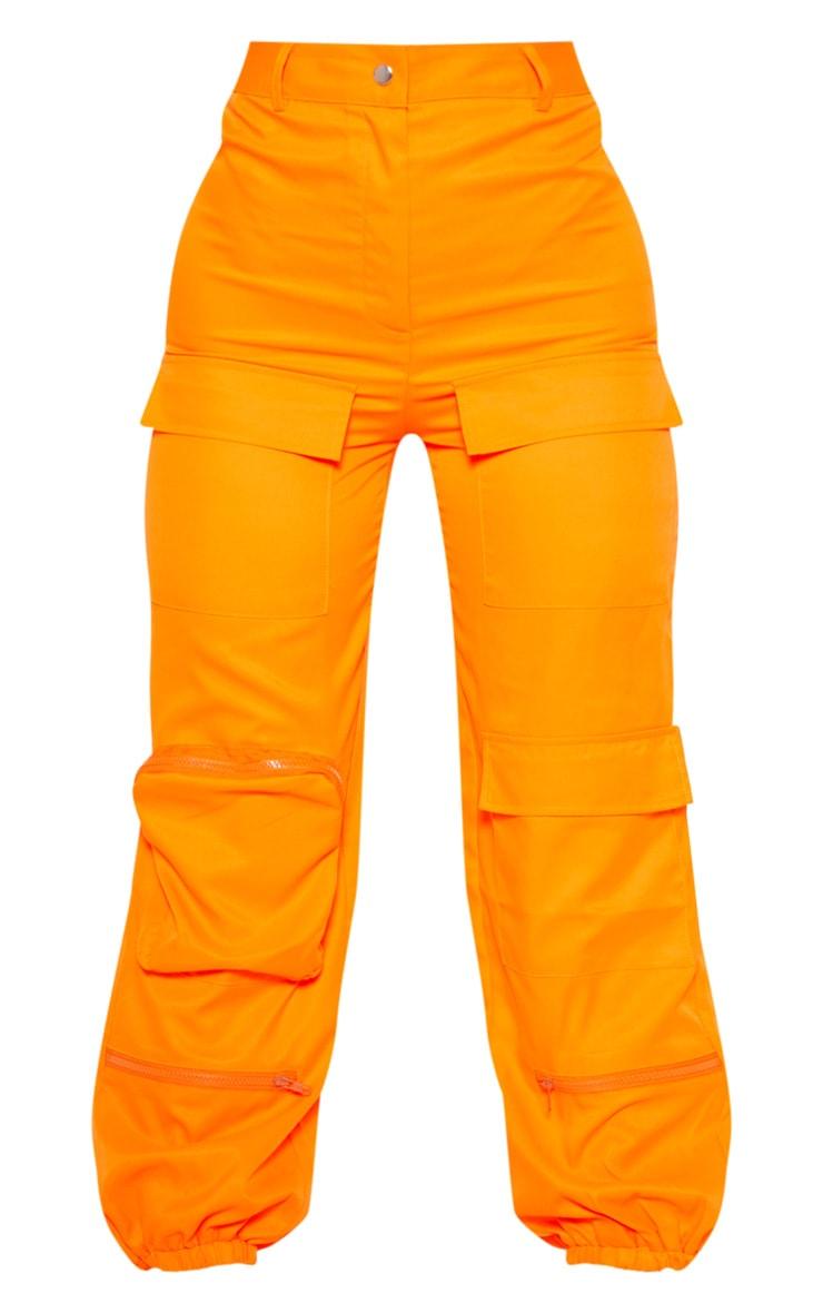 Orange 3D Pocket Cargo Trouser 3